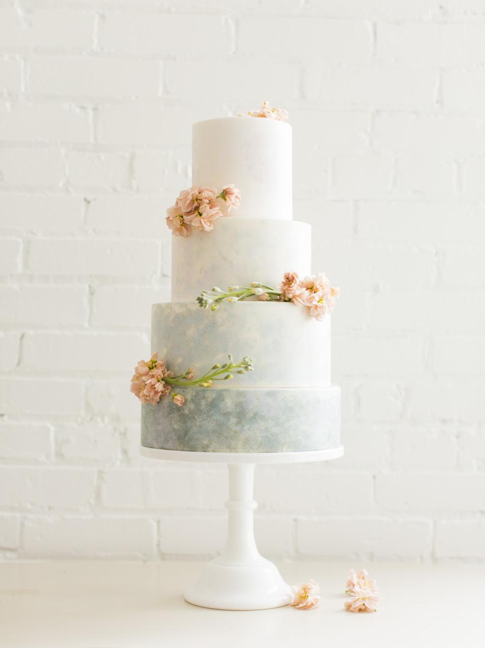 Monet Inspired Wedding Cake | Michelle Leo Events