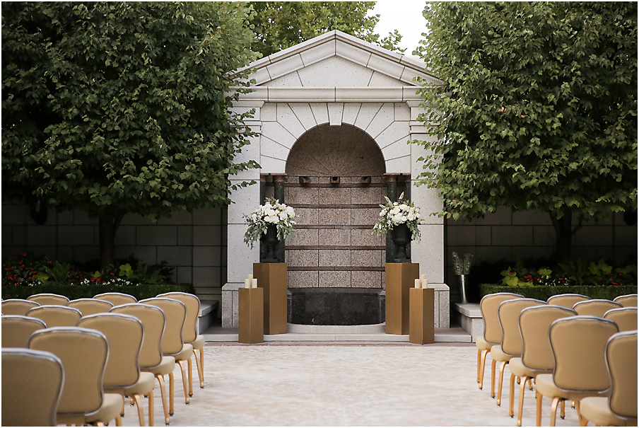 Wedding at Grand America's beautiful Grand Salon   Michelle Leo Events   Pepper Nix
