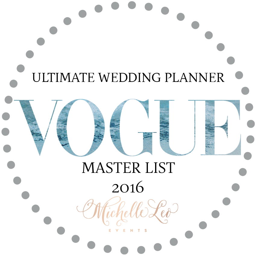 Michelle Leo Events | Named An Ultimate Wedding Planner by Vogue