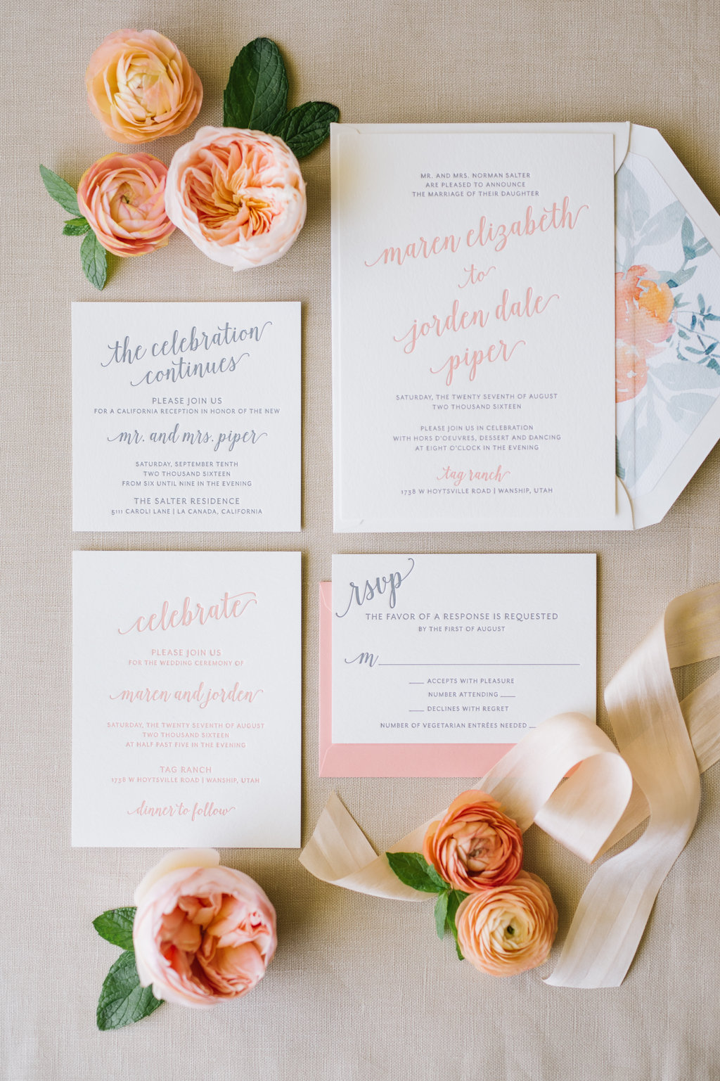 Invitation Wording Guide with Aerialist Press & Foiled Invitations | Letterpress Wedding Invitations | Michelle Leo Events | Utah Event Planner and Designer | Heather Nan Photography