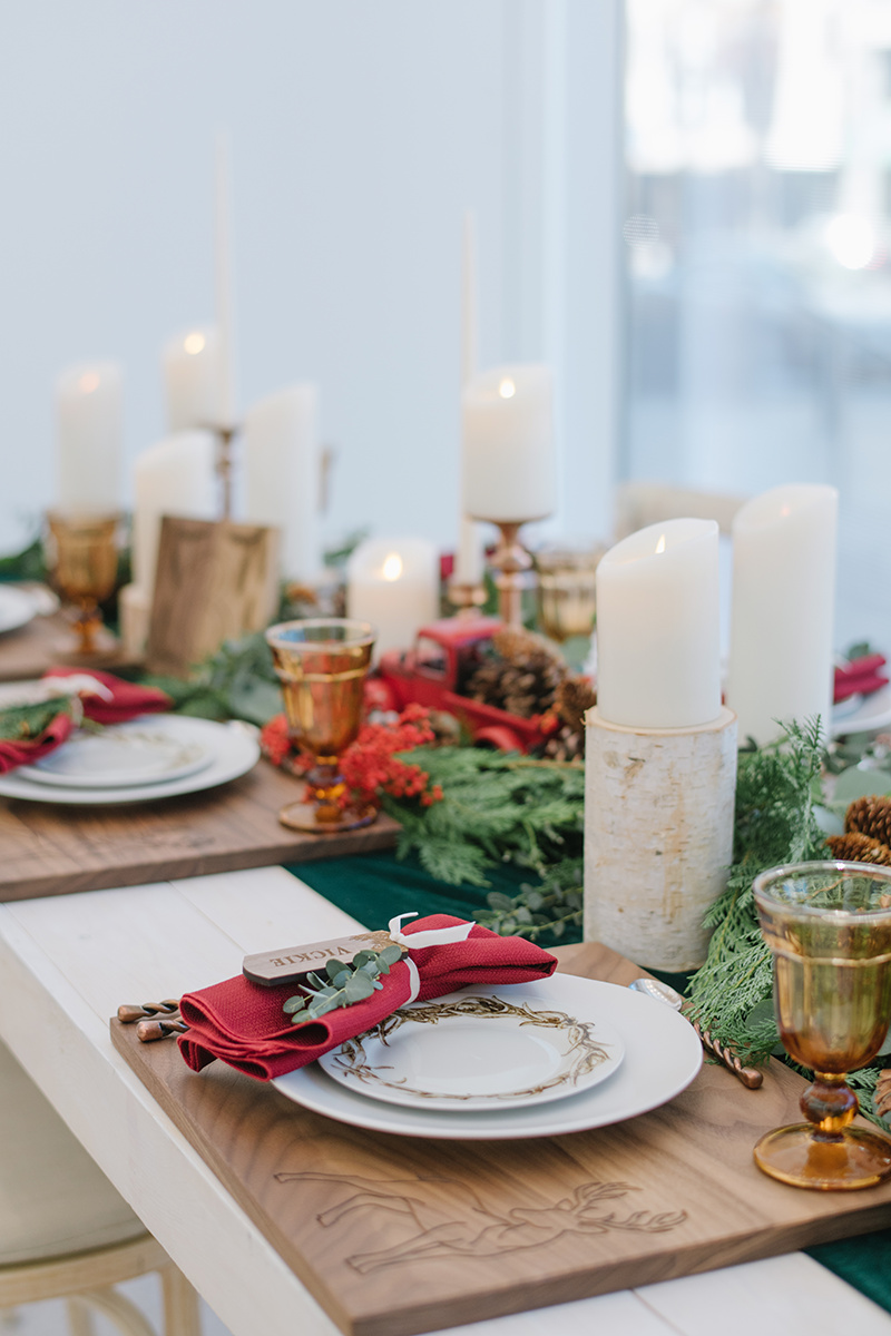 Holiday Table Decor | Christmas Ideas | Holiday Home Decor | Michelle Leo Events | Utah Event Planner and Designer | Heather Nan Photography
