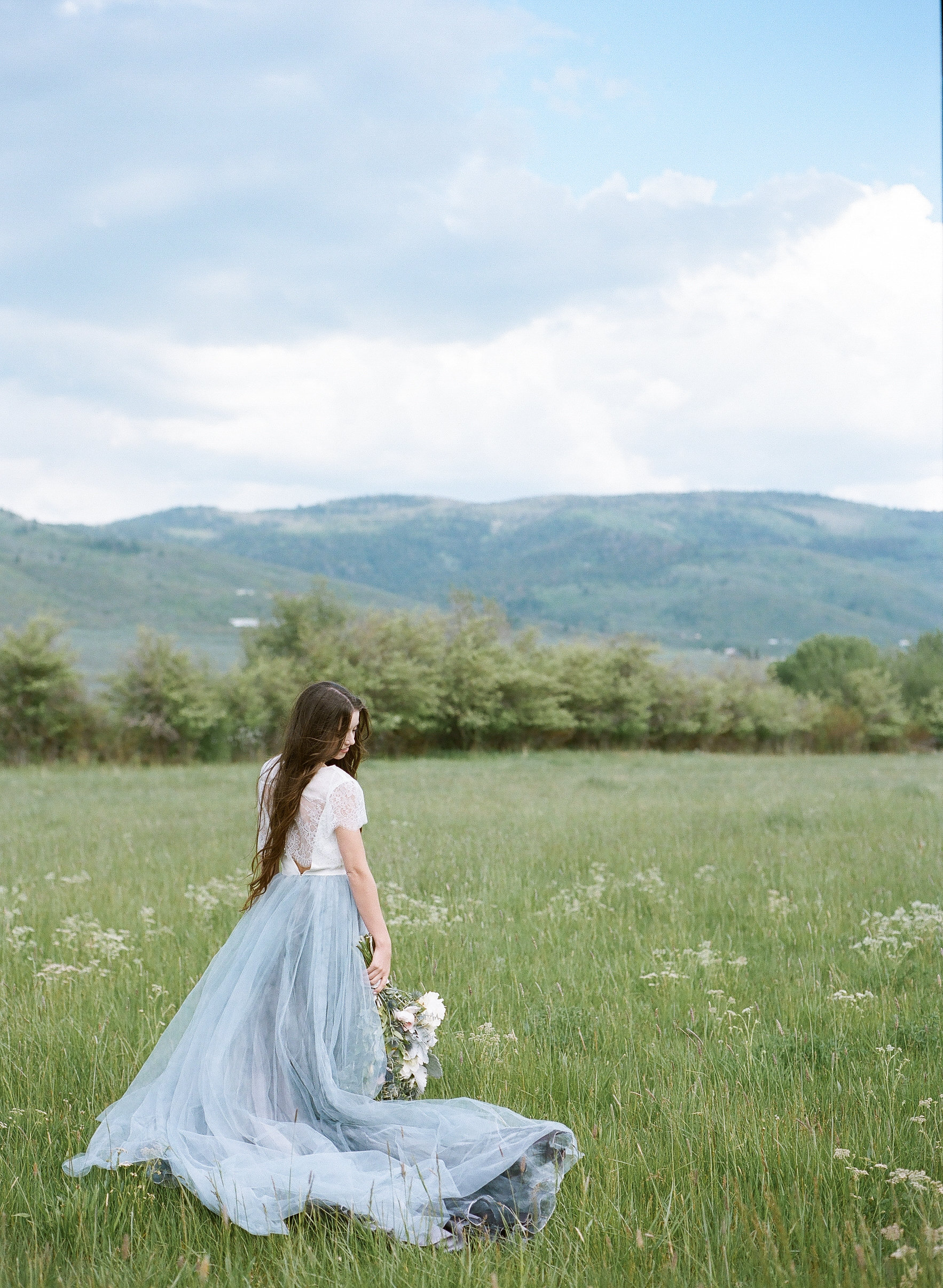 Blue-Hued Ranch Wedding | Watercolor Wedding Inspiration | Outdoor Wedding | Michelle Leo Events | Utah Event Planner and Designer | Heather Nan Photography