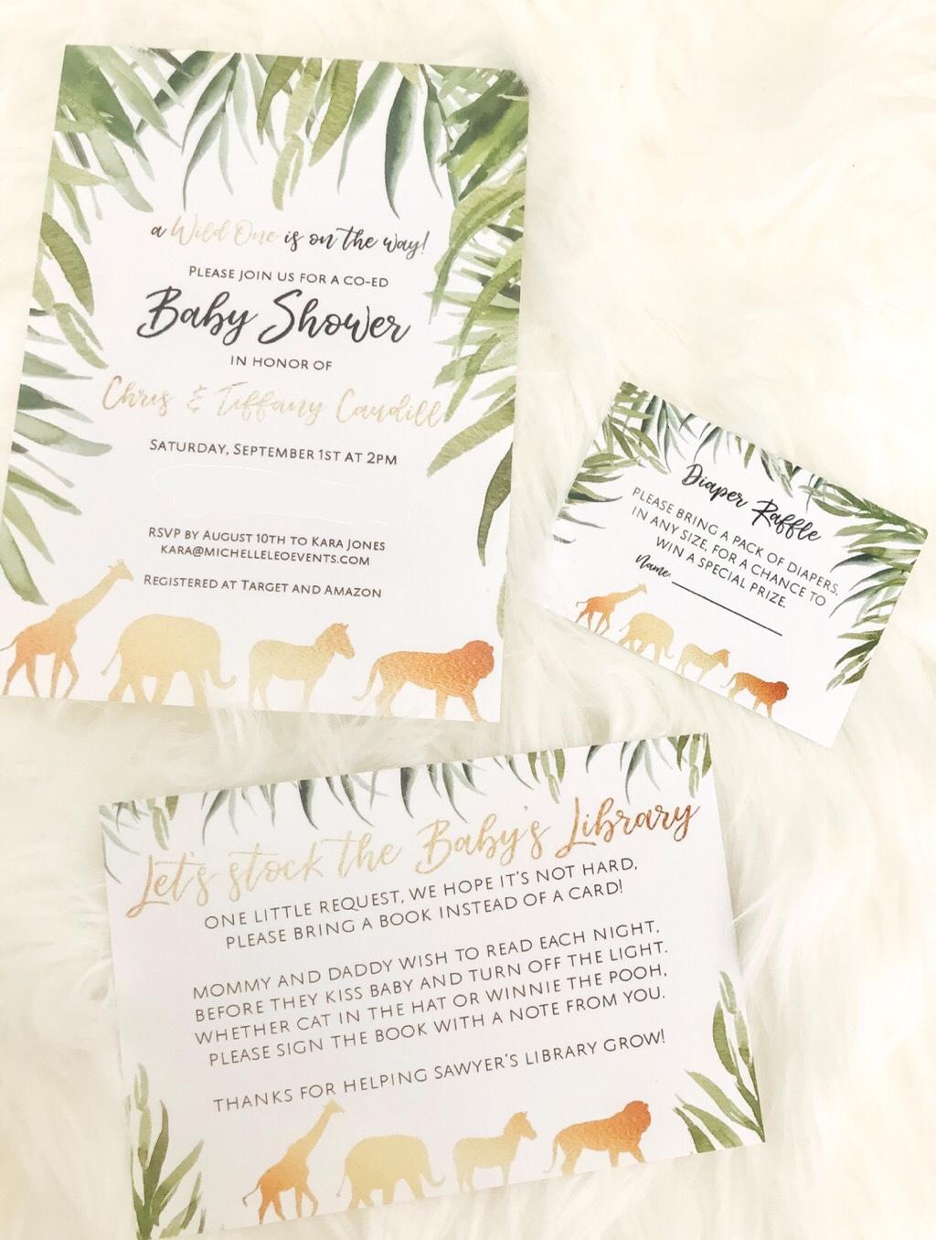 Safari Themed Baby Shower | Gender Neutral Baby Shower | Michelle Leo Events | Utah / California Event Planner and Designer