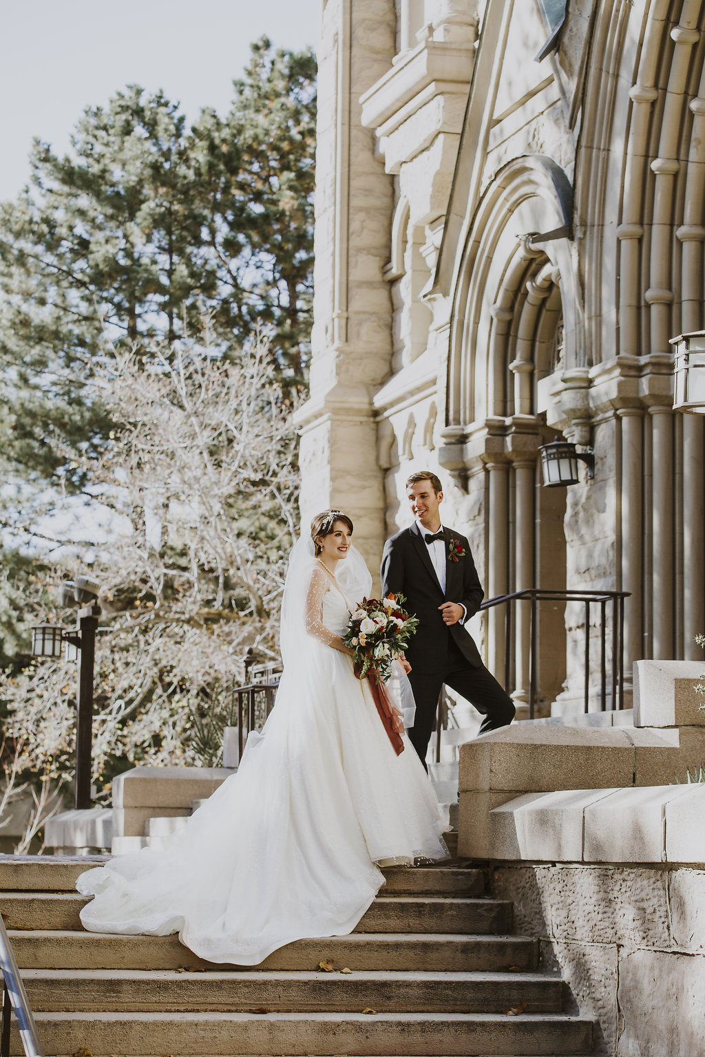 Catholic Wedding | Fall Wedding | Salt Lake City Wedding | Country Club Wedding | Burgundy | Michelle Leo Events | Utah Wedding Design and Planning | Grey Giraffe Photography