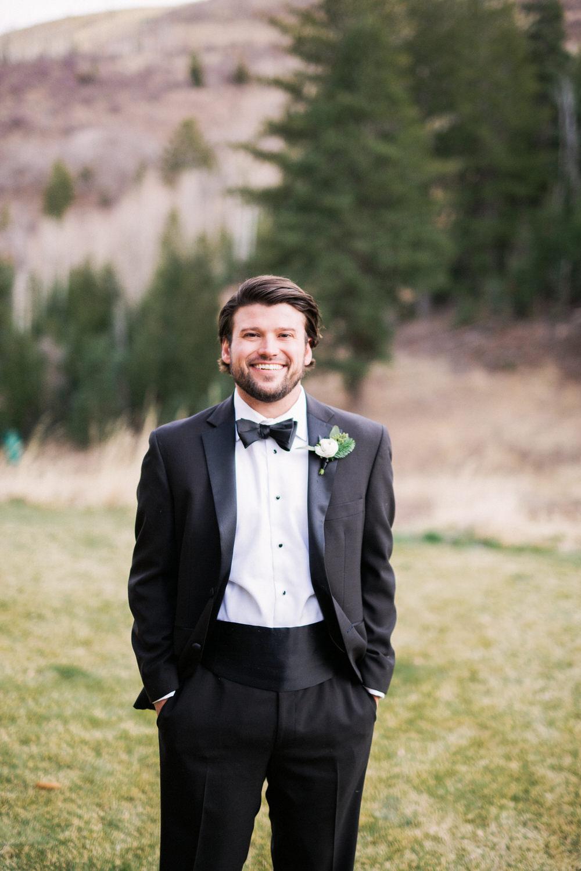Blush and Dusty Blue Wedding | Rose Gold Wedding Details | St. Regis Deer Valley Winter Wedding | Michelle Leo Events | Utah Event Planner and Designer | Gideon Photography
