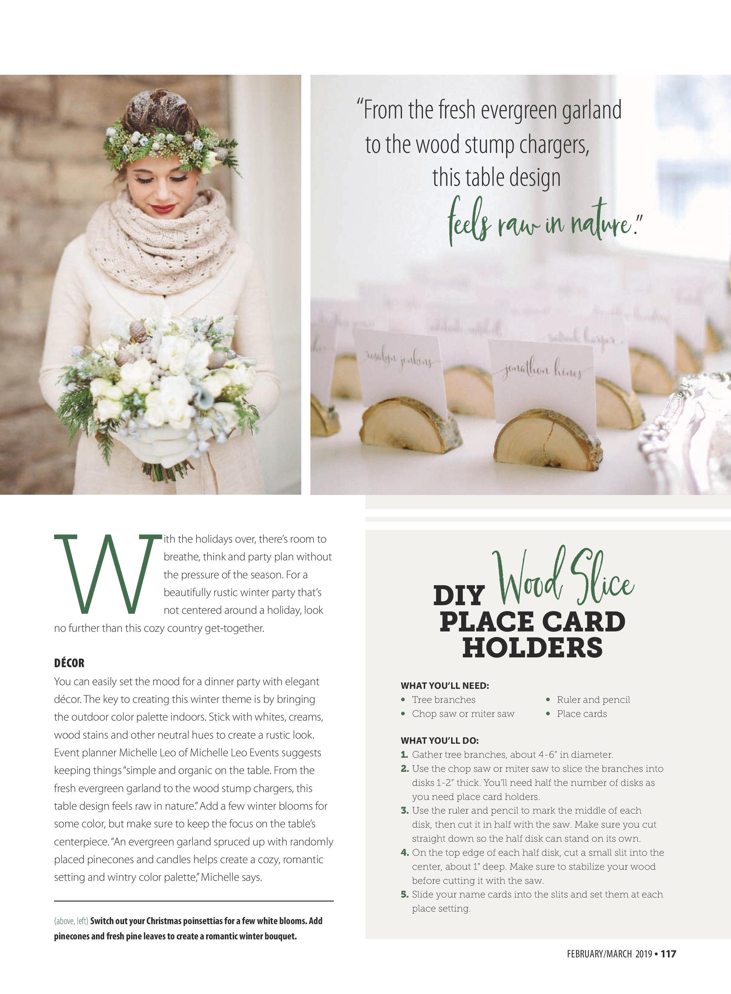 American Farmhouse Style Magazine | Rustic Winter Wedding Inspiration | Utah Event Planner and Designer | Michelle Leo Events | Jacque Lynn Photography