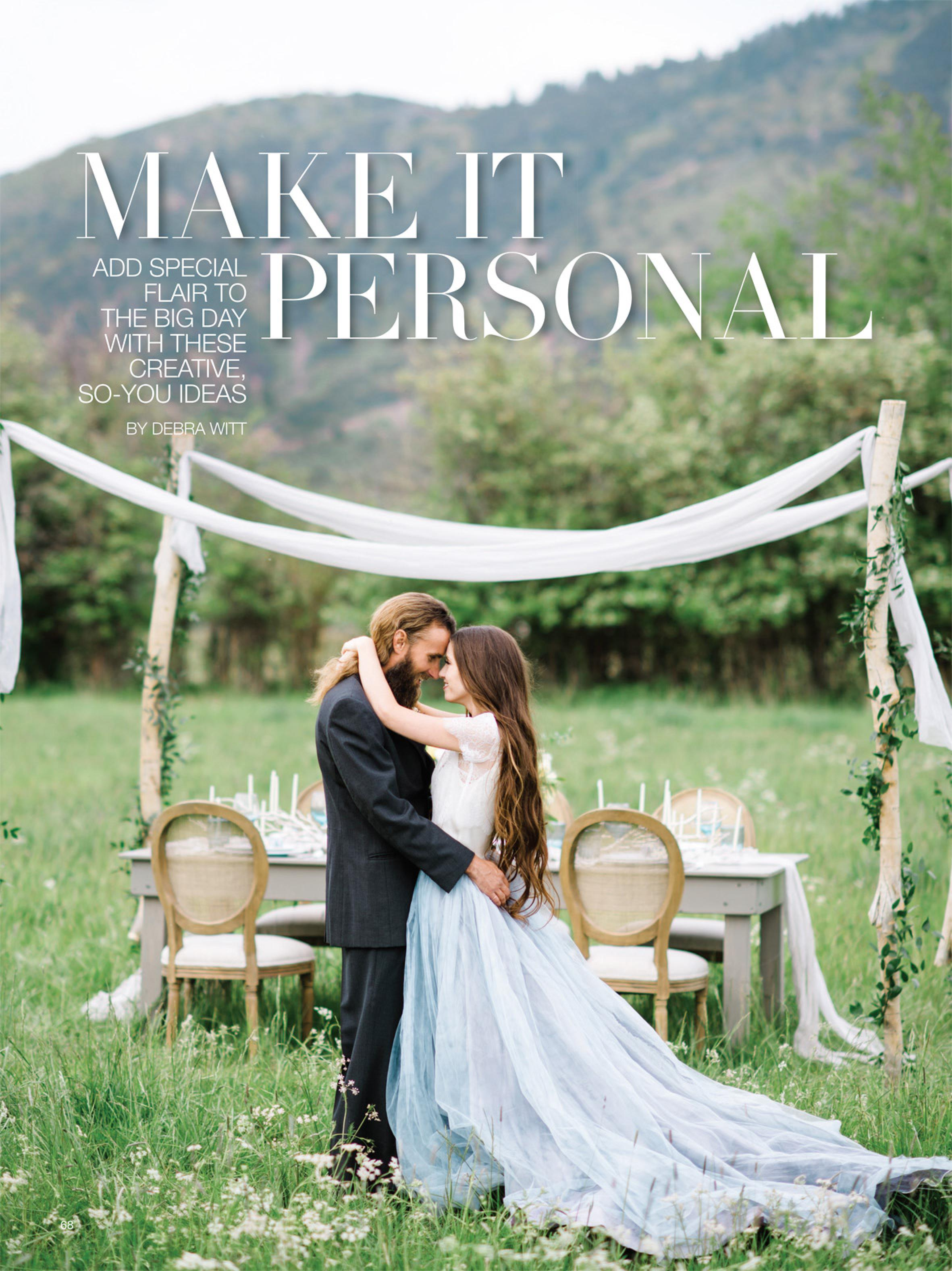Bridal Guide Magazine Feature | Personalizing Your Wedding | Michelle Leo Events | Utah Event Planner and Designer