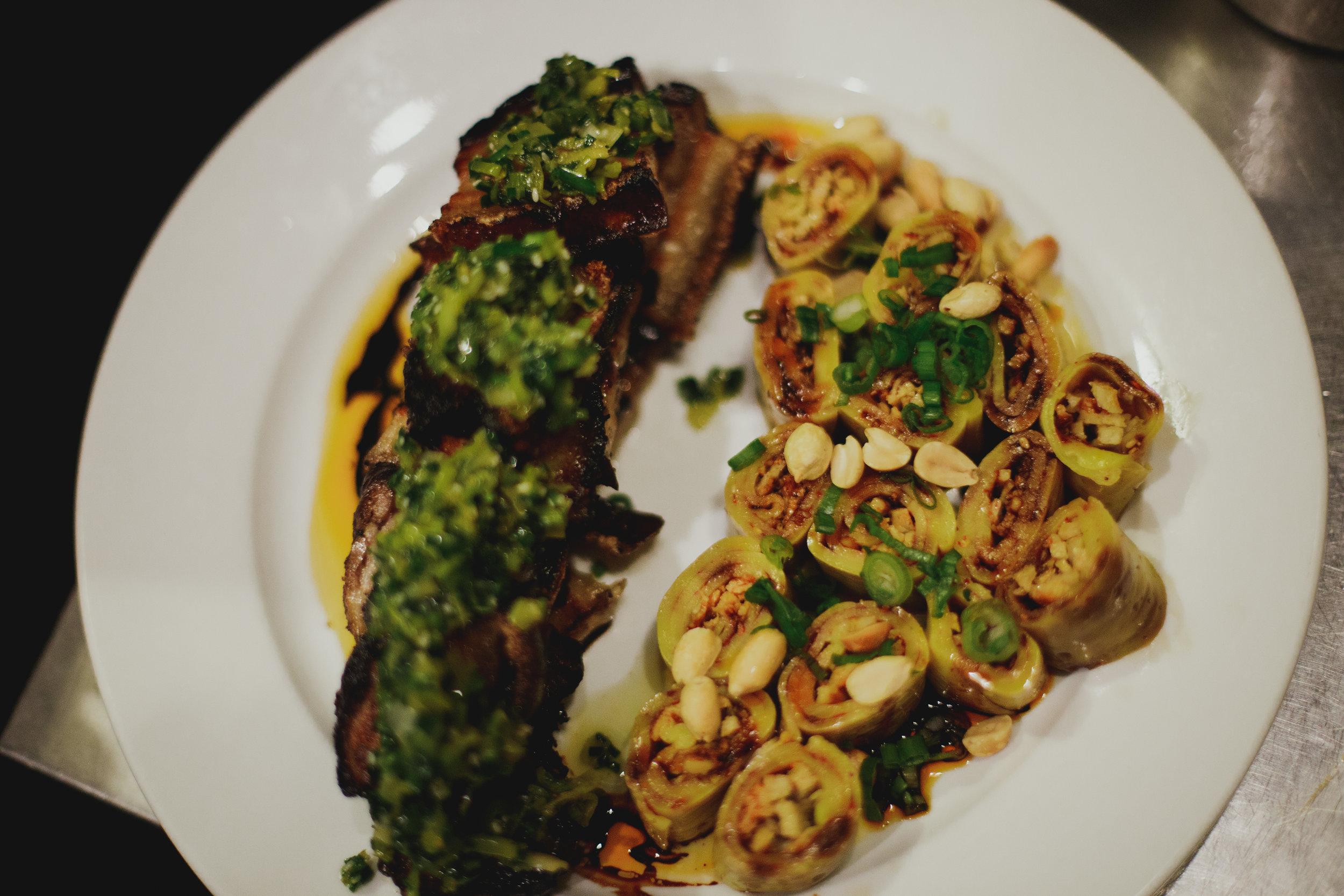 Chef Dorjee & Chef Wing collaborate on innovative Tibetan-Filipino dishes. -