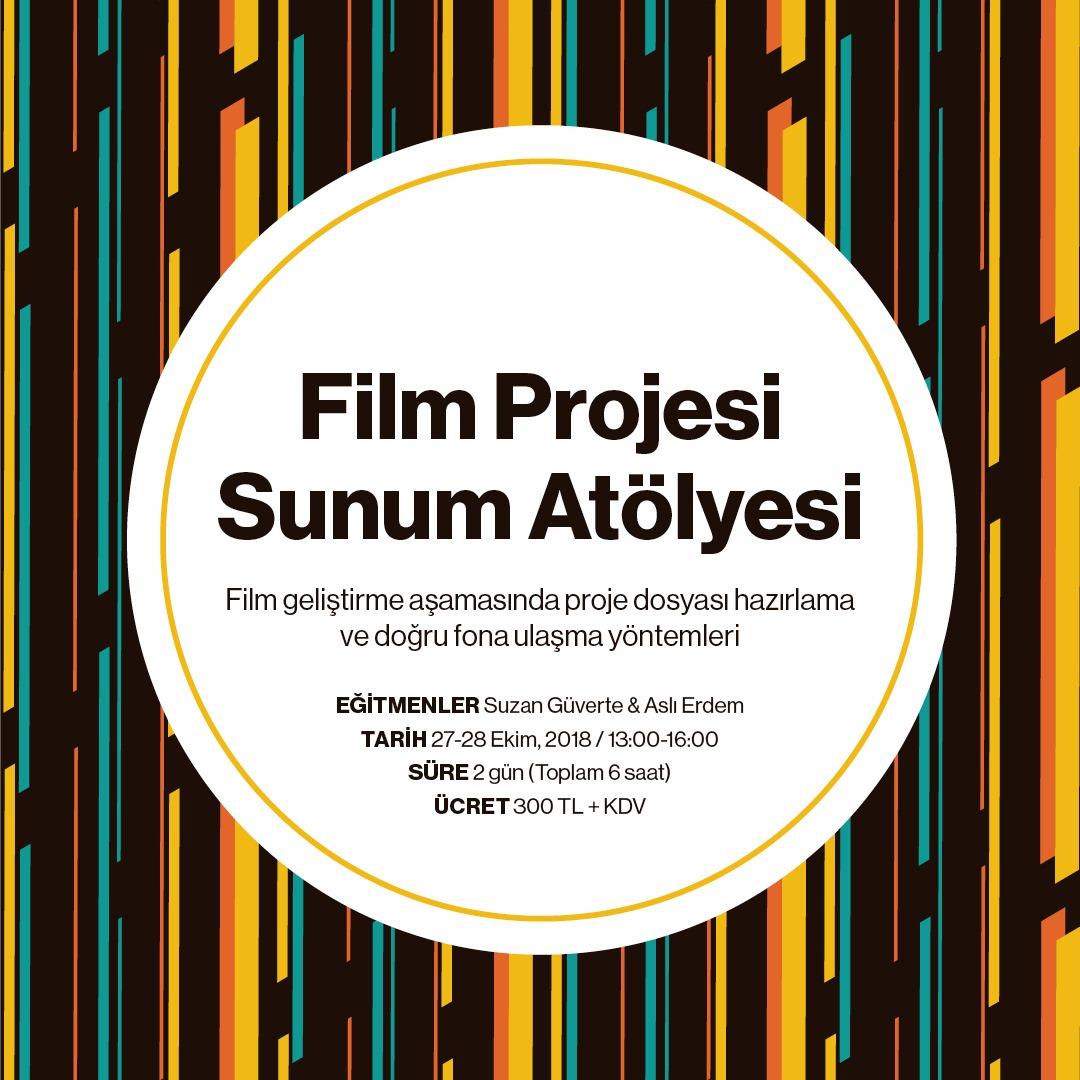 Film Projesi Sunum Atölyesi - Bu atölye, katılımcıların ulusal ve uluslararası fon başvuruları için gerekli dökümanları hazırlama ve projesini yatırımcılara sunma yöntemlerini geliştirmeyi hedefliyor. Bir filmin sunum dosyasında bulunması gereken özet cümle, sinopsis, tretman, yönetmen görüşü, yapımcı görüşü, finans planı, bütçe gibi materyalleri örnekler üzerinden birlikte çalışacağız.Detaylar için tıklayın