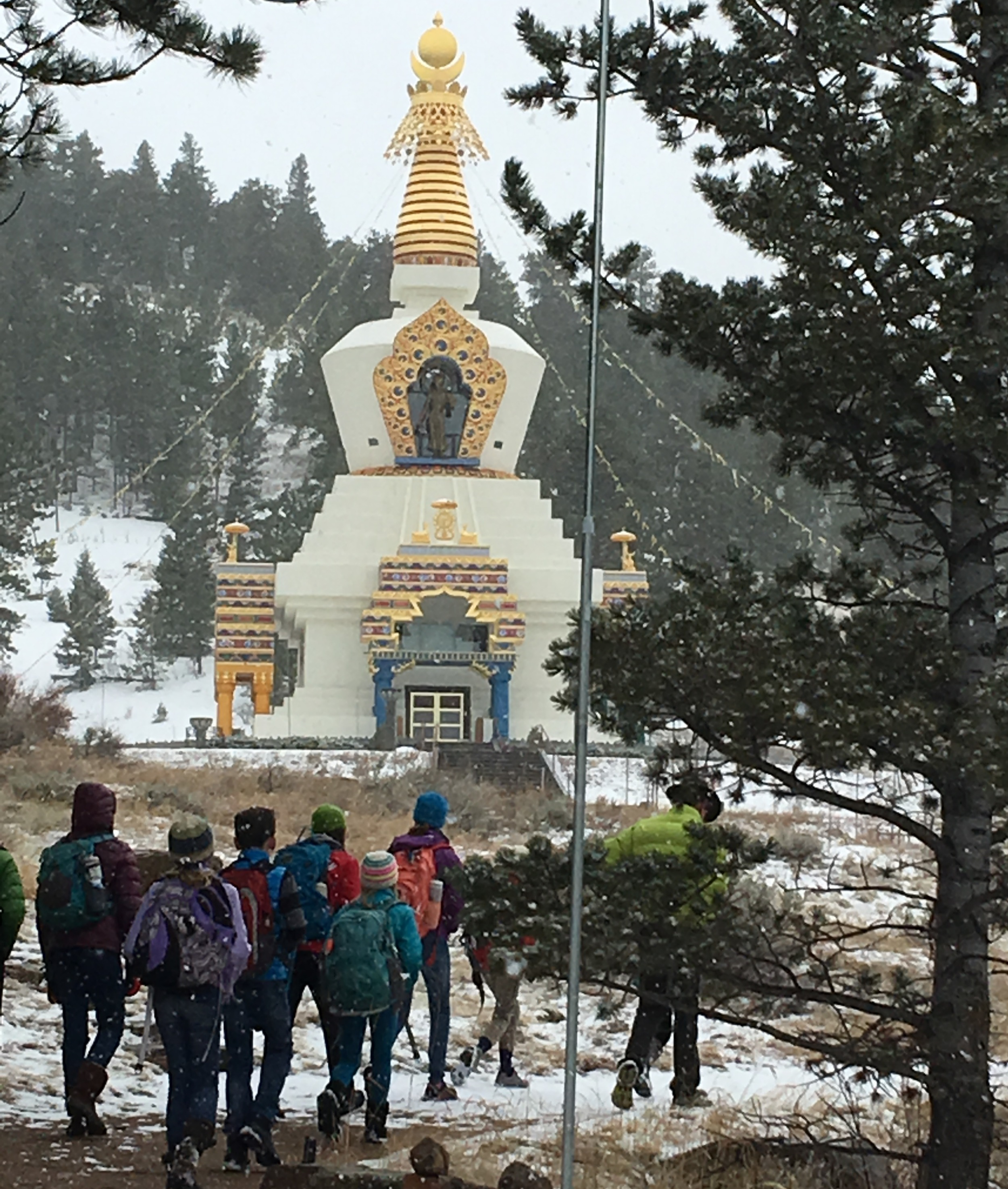 Visit to the Shambala Mountain Center during our History of Law studies.