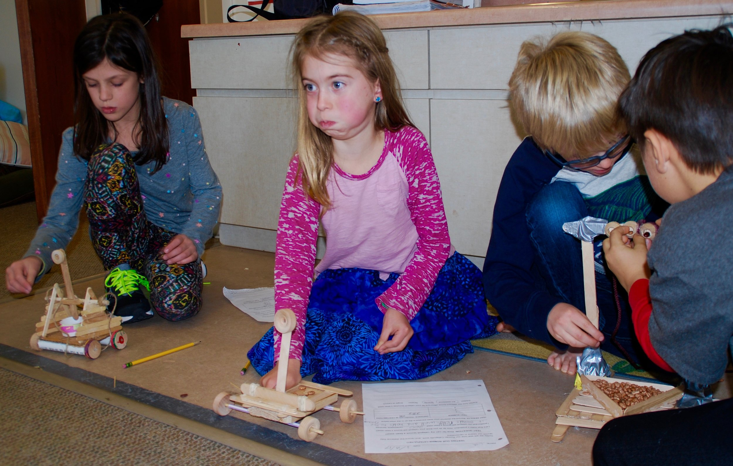 Researching, designing, building, testing and rebuilding Roman catapults - an integrated science and math project.