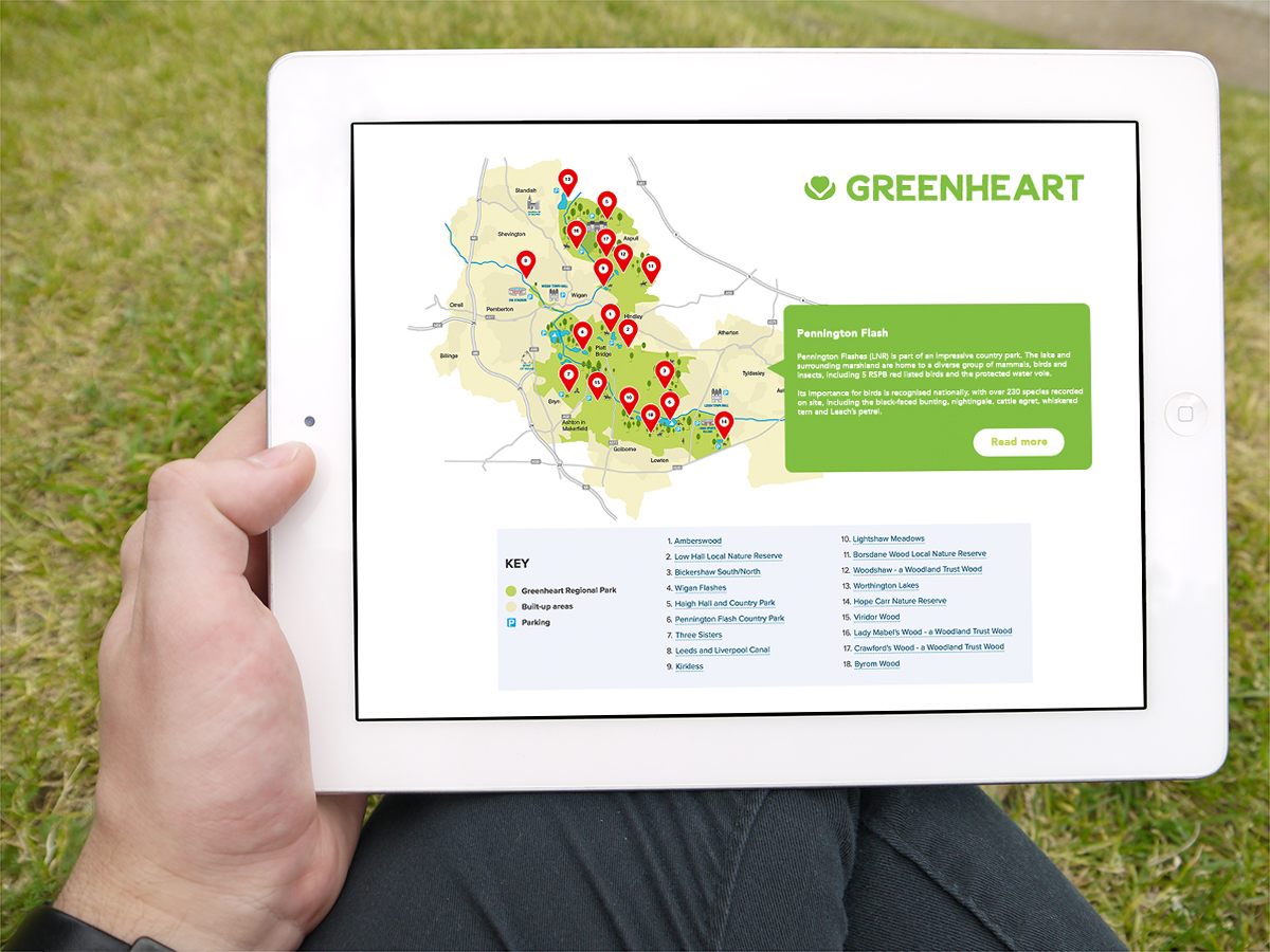 Interactive Map packed full of info on local places to explore.