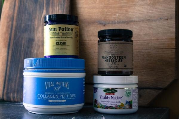 Collagen Peptides, Reishi, Mangosteen Beauty Tonic, Prash Combination
