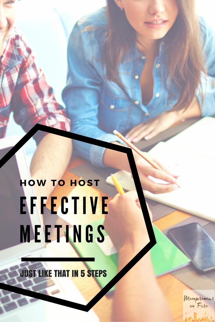 Mompreneur on Fire - Effective Meetings