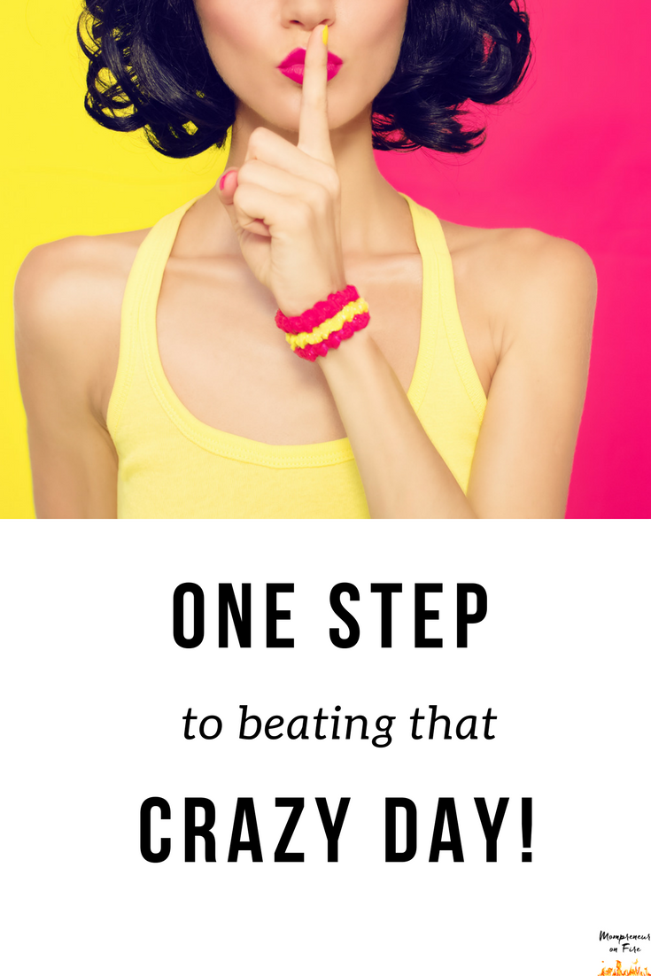 Mompreneur on Fire - One Step to Beating that Crazy Day