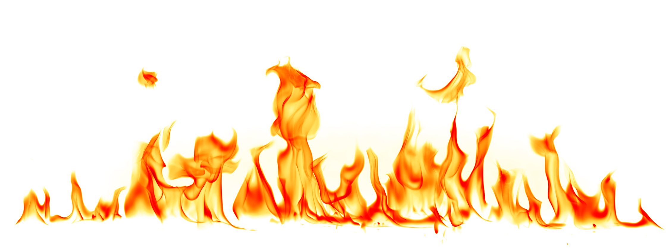 Copy of Fire flames isolated on white background