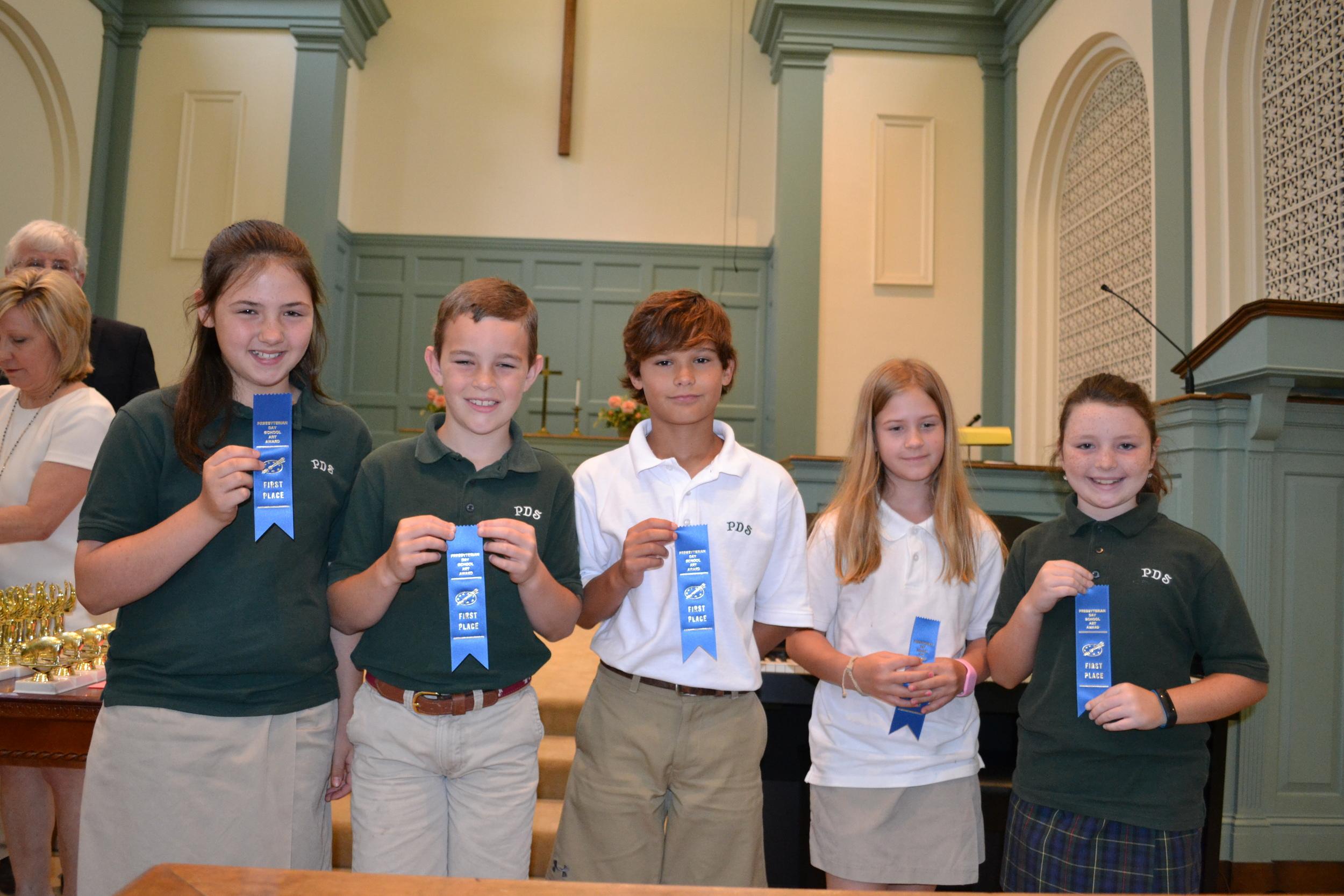 PDS art winners - 4th grade