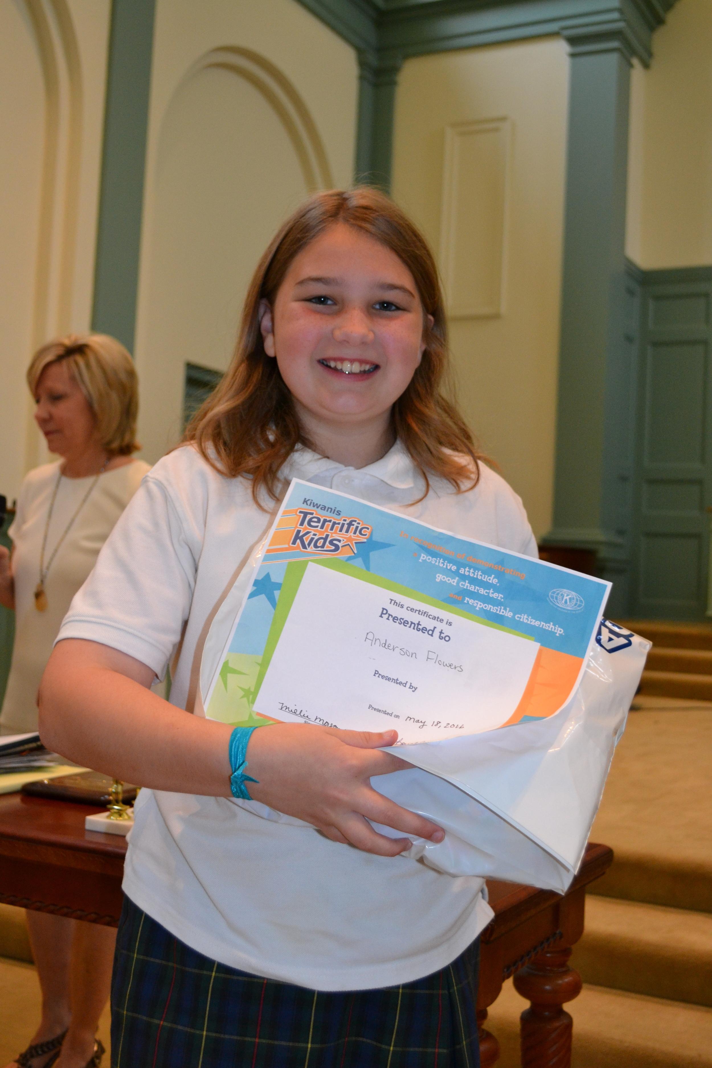 Terrific Kid Award