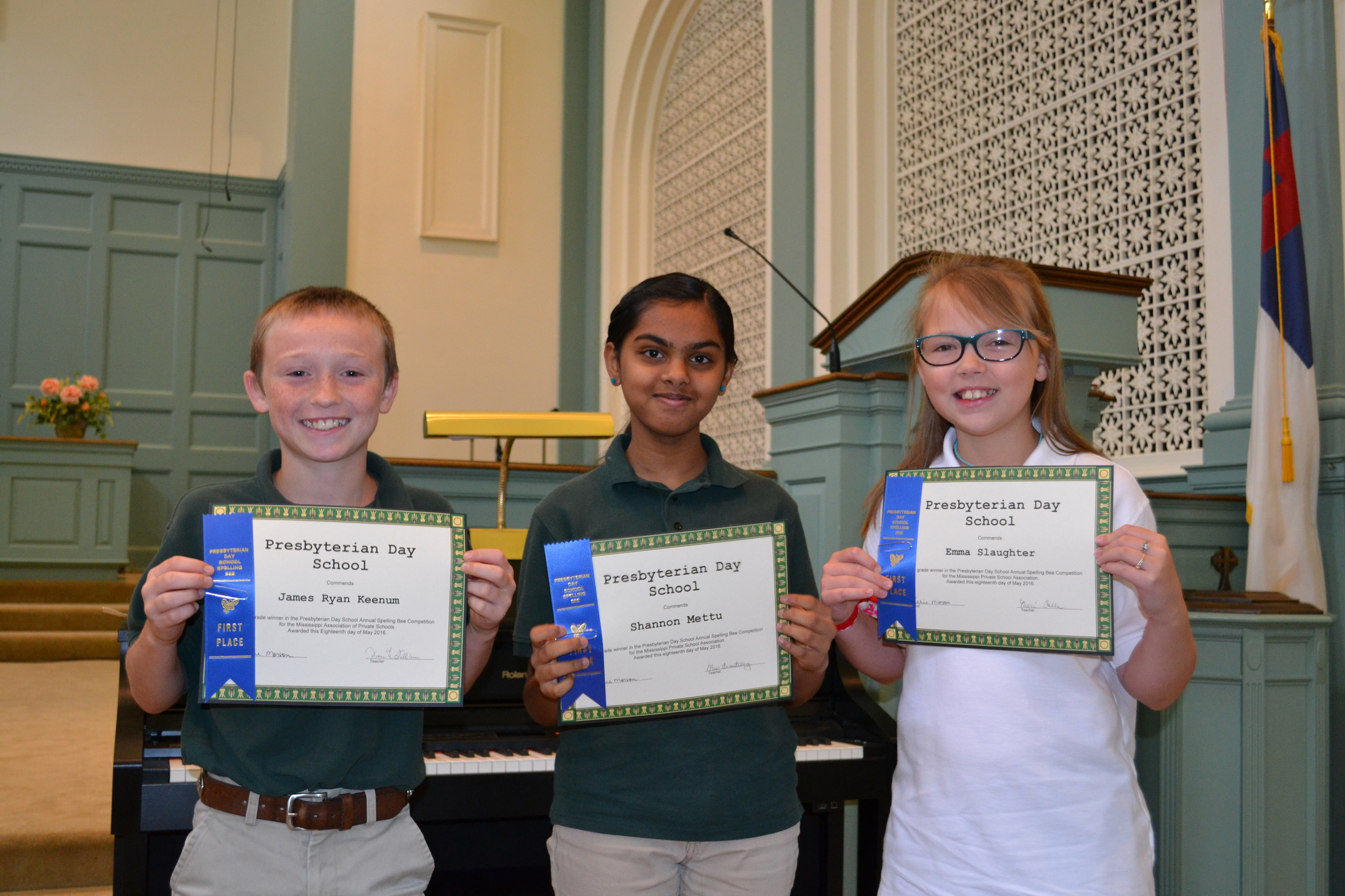 PDS Spelling Bee first place