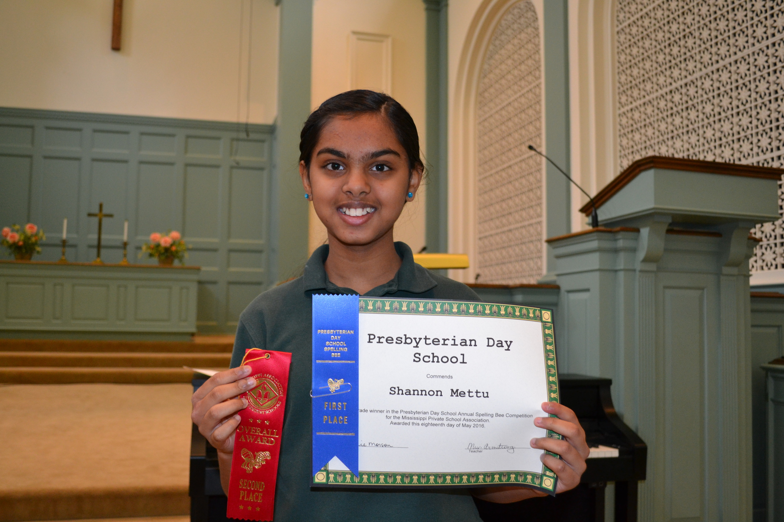 State Spelling Bee 2nd place