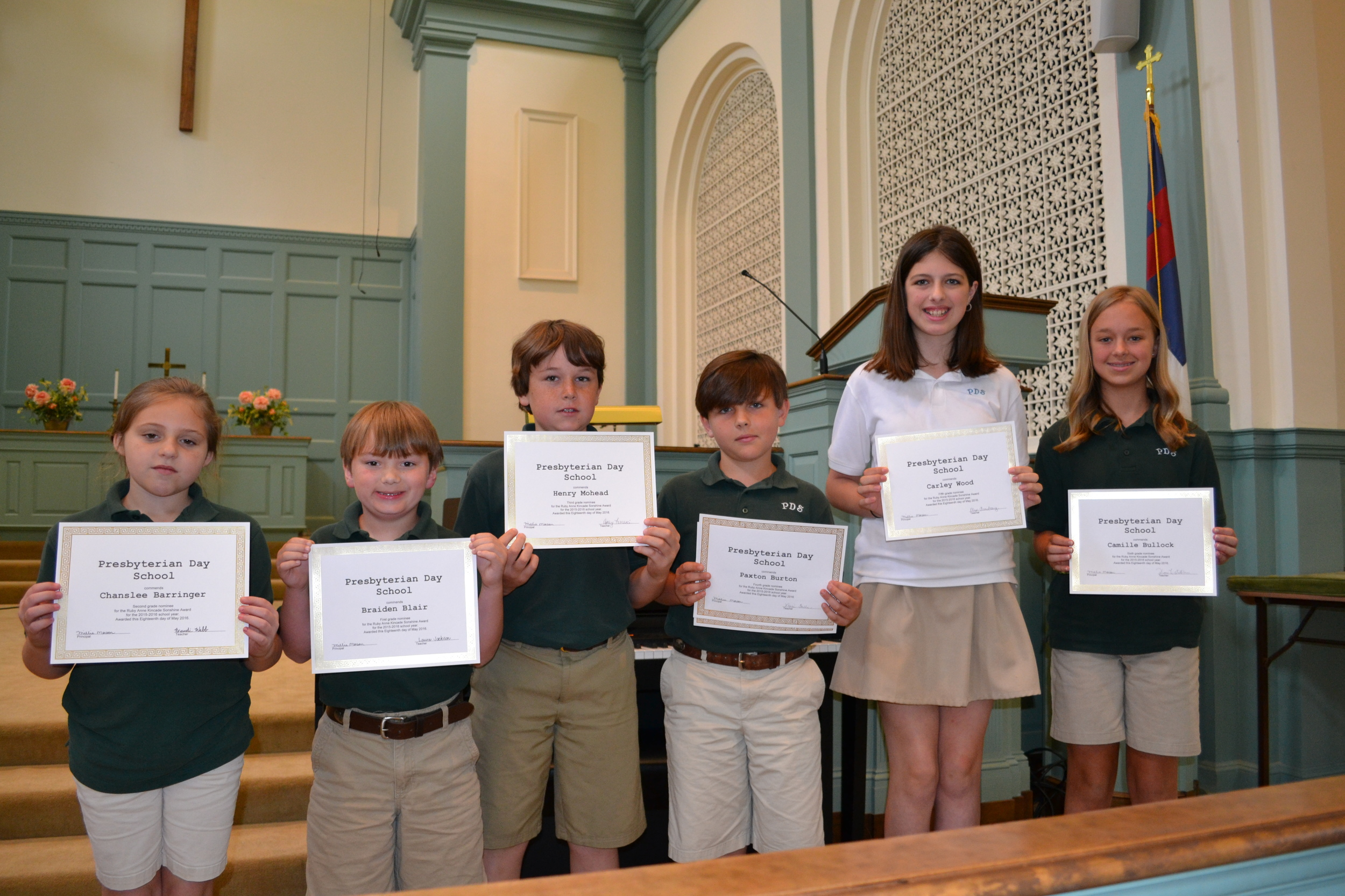 Ruby Anne Kincade Sonshine Award
