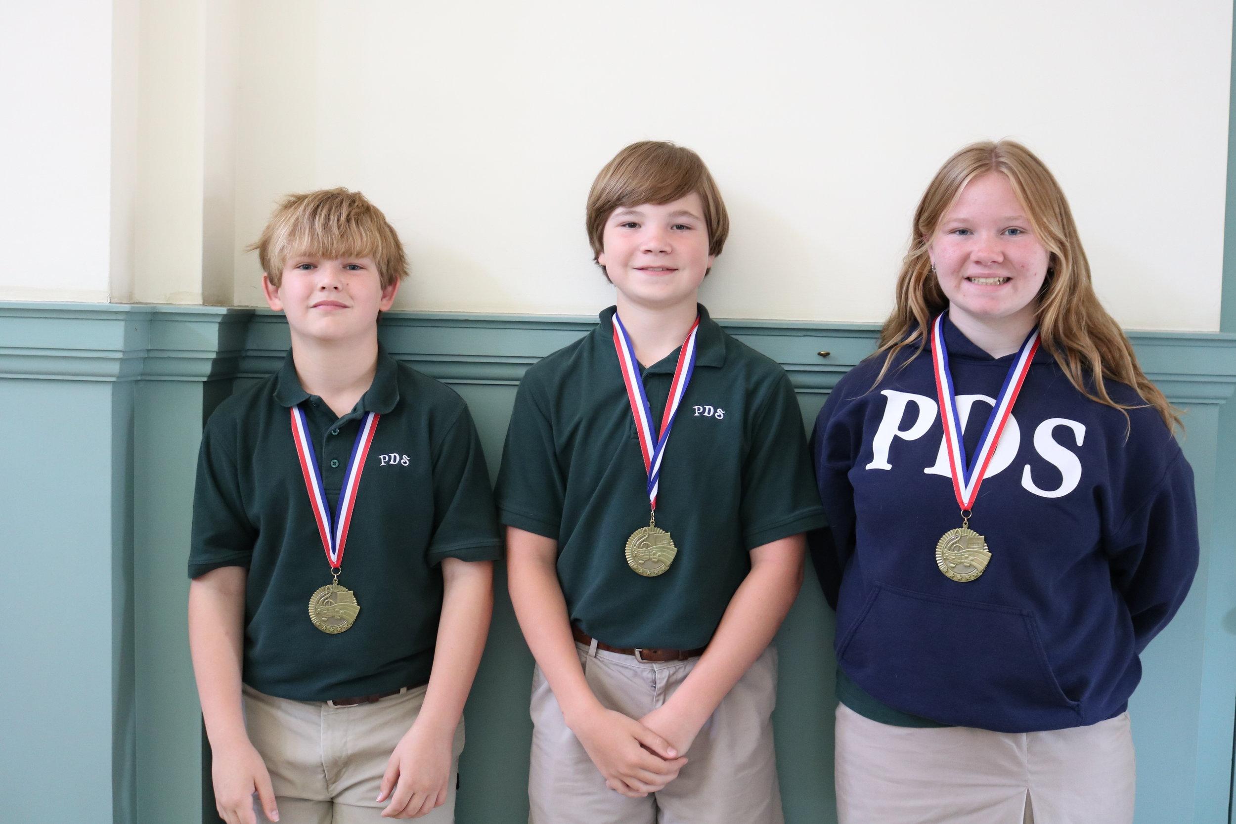 5th grade Music Medallion Award winners