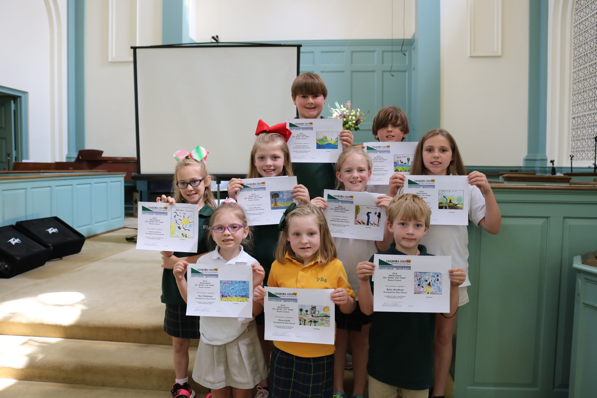 Coahoma County Soil & Water Conservation District poster contest winners