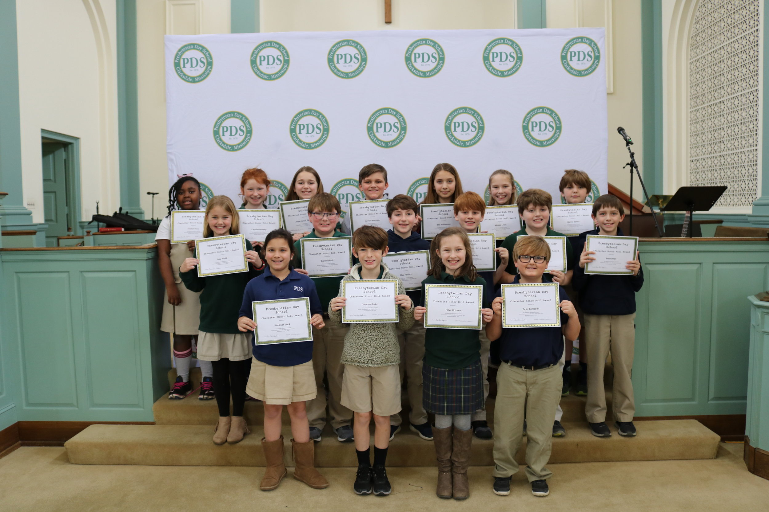 4th grade character honor roll