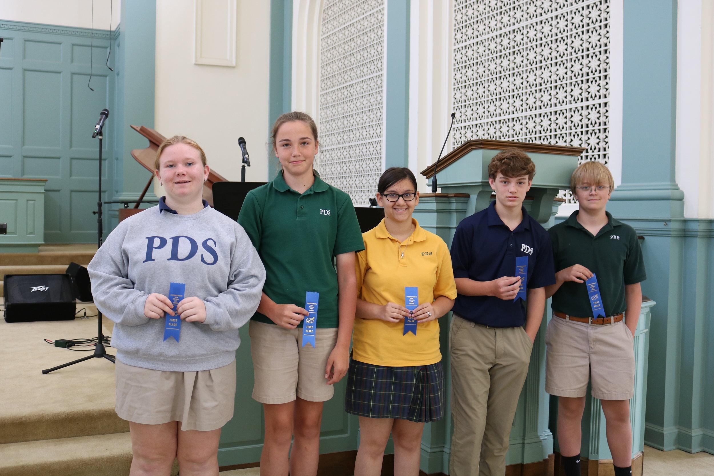 6th grade PDS winners