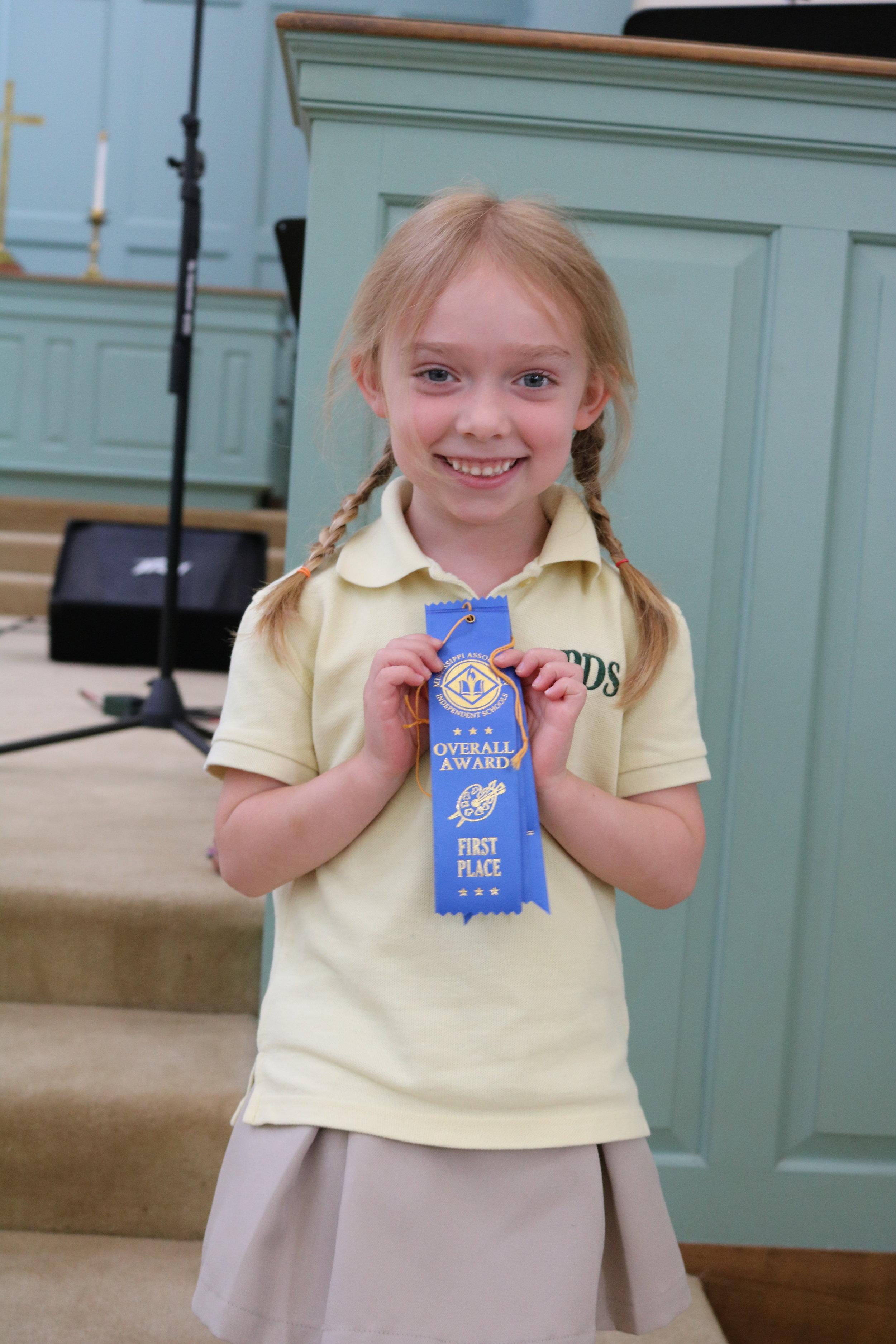 MAIS State winner - Emma Roach (Jr. K)