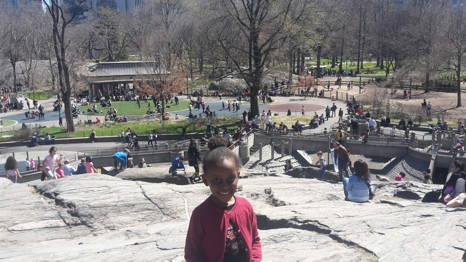She conquered Mt. Central Park, the world is her oyster! (Photo credit - uncle Busoye!)
