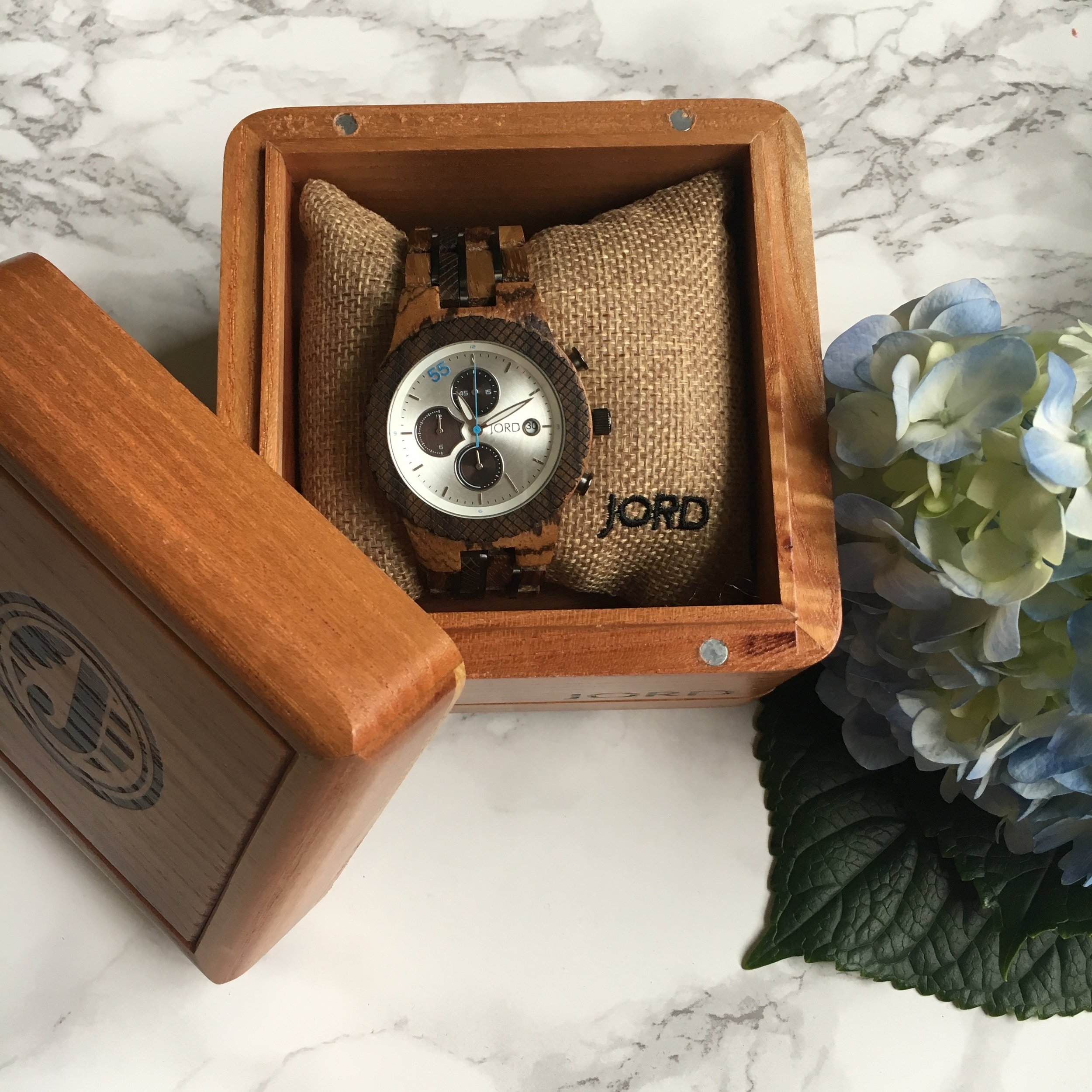 Your watch will arrive presented in a beautiful wooden box - perfect for him to store his cufflinks etc inside...or your trinkets!