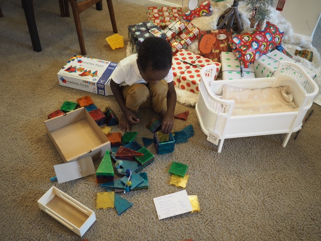the. best. gift. ever. these  magnatiles  are officially judah's but both kids can play with them for hours! we even get stuck in. they are awesome.