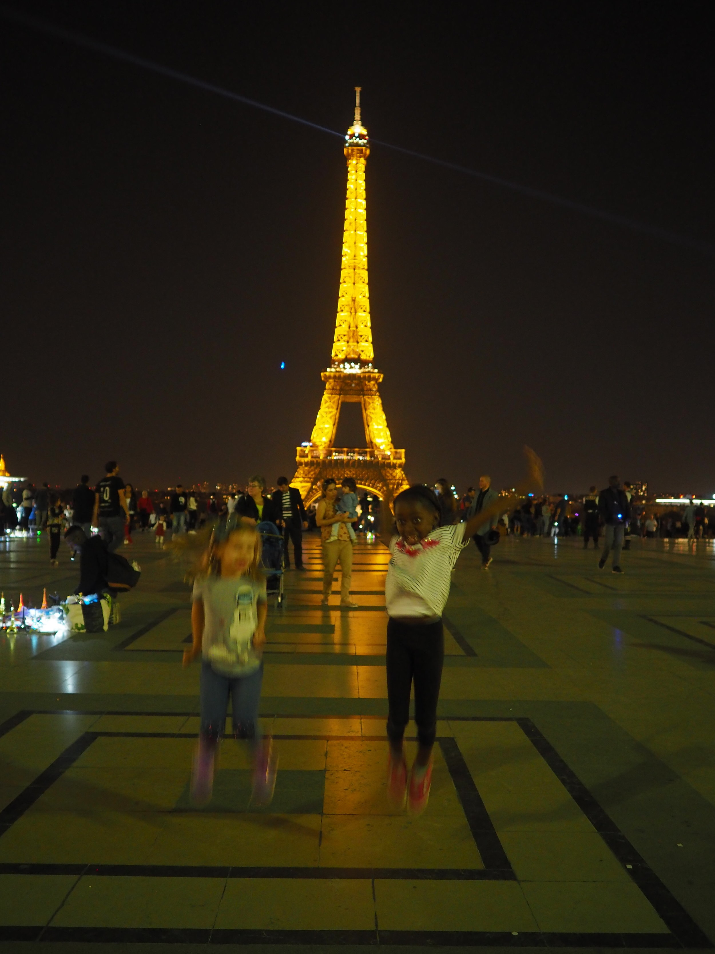 fun at Trocadero after the boat trip