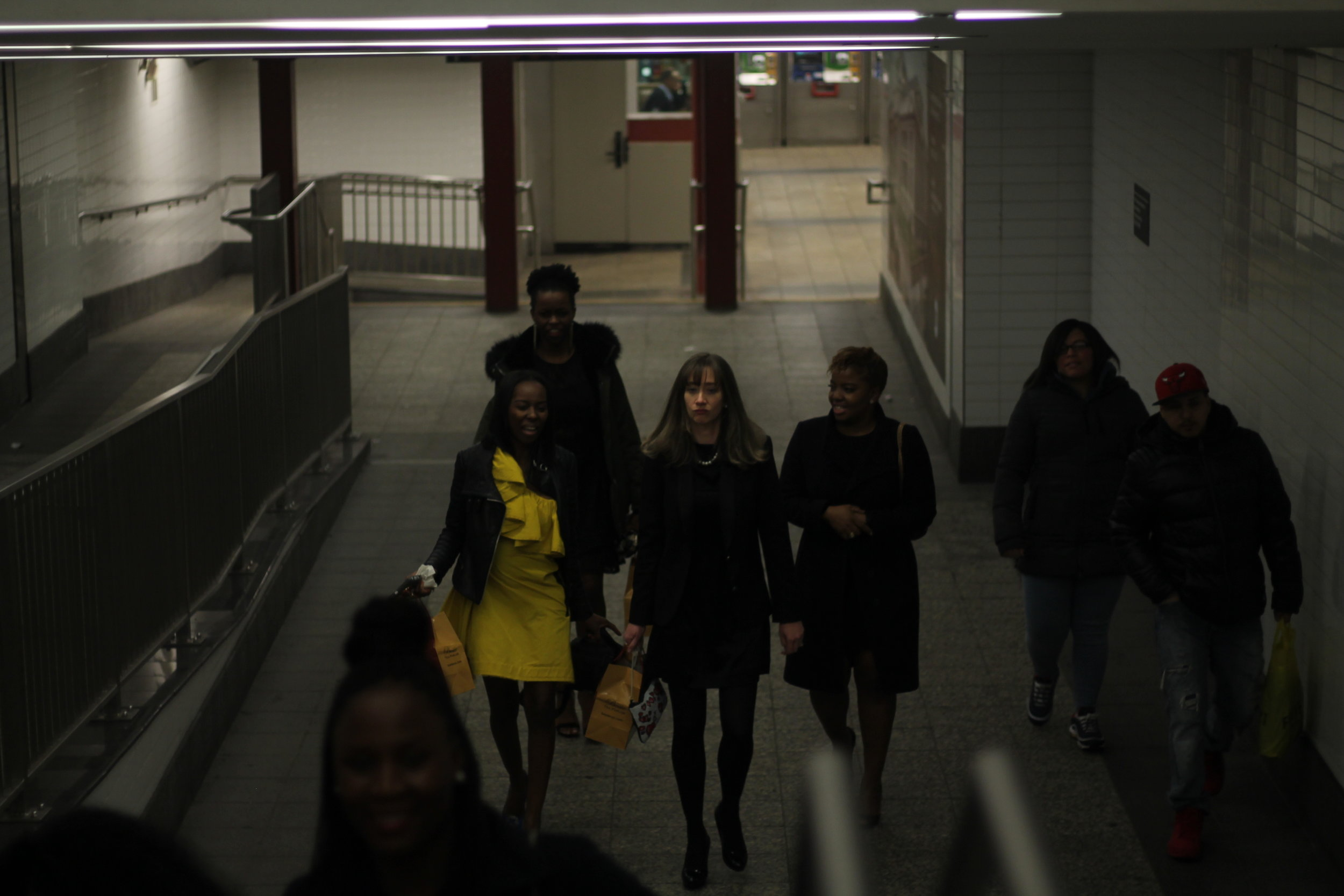 Papped exiting the subway!