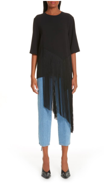 Stella McCartney Stretch Cady Fringe Top
