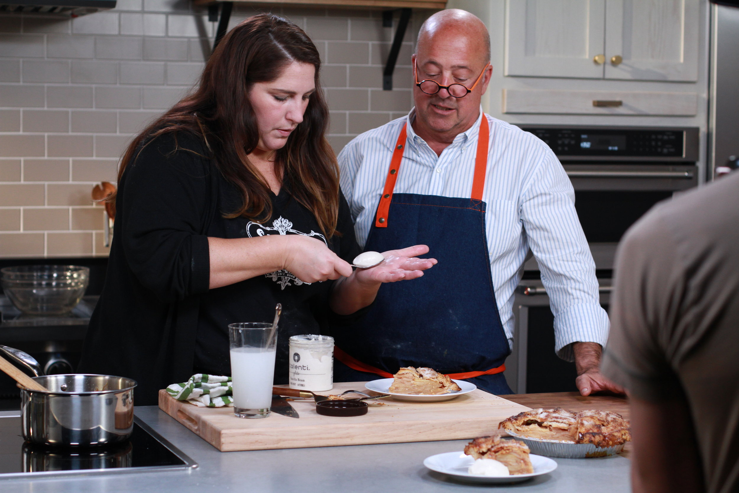 """Andrew Zimmern Cooks: Caramel Apple Pie with Michelle Gayer"