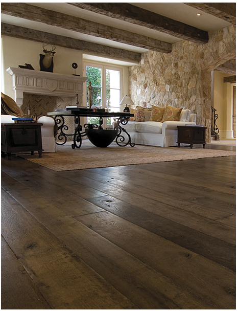 2. Wide plank barn style floors