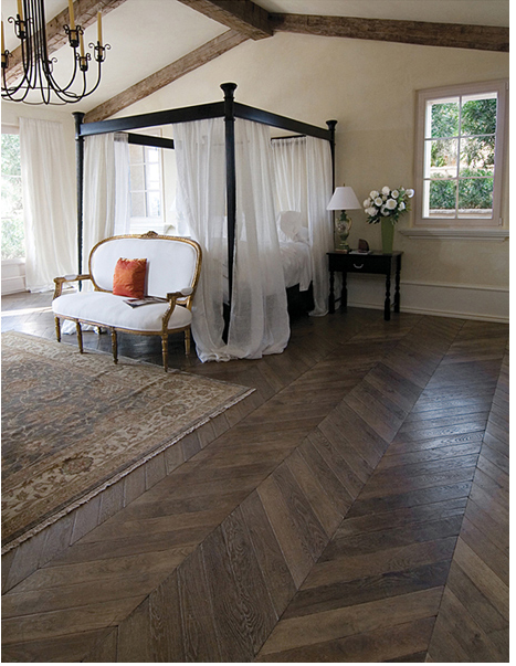 1. Beautiful French Antique Oak Herringbone Floors