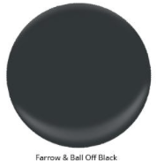 Image via: Arlyne Hernandez  Farrow & Ball: Off Black