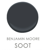 Image via: Studio McGee  Benjamin Moore: Soot