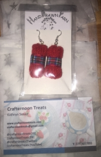 Thank you for the earrings Kathryn (Crafternoon Treats)