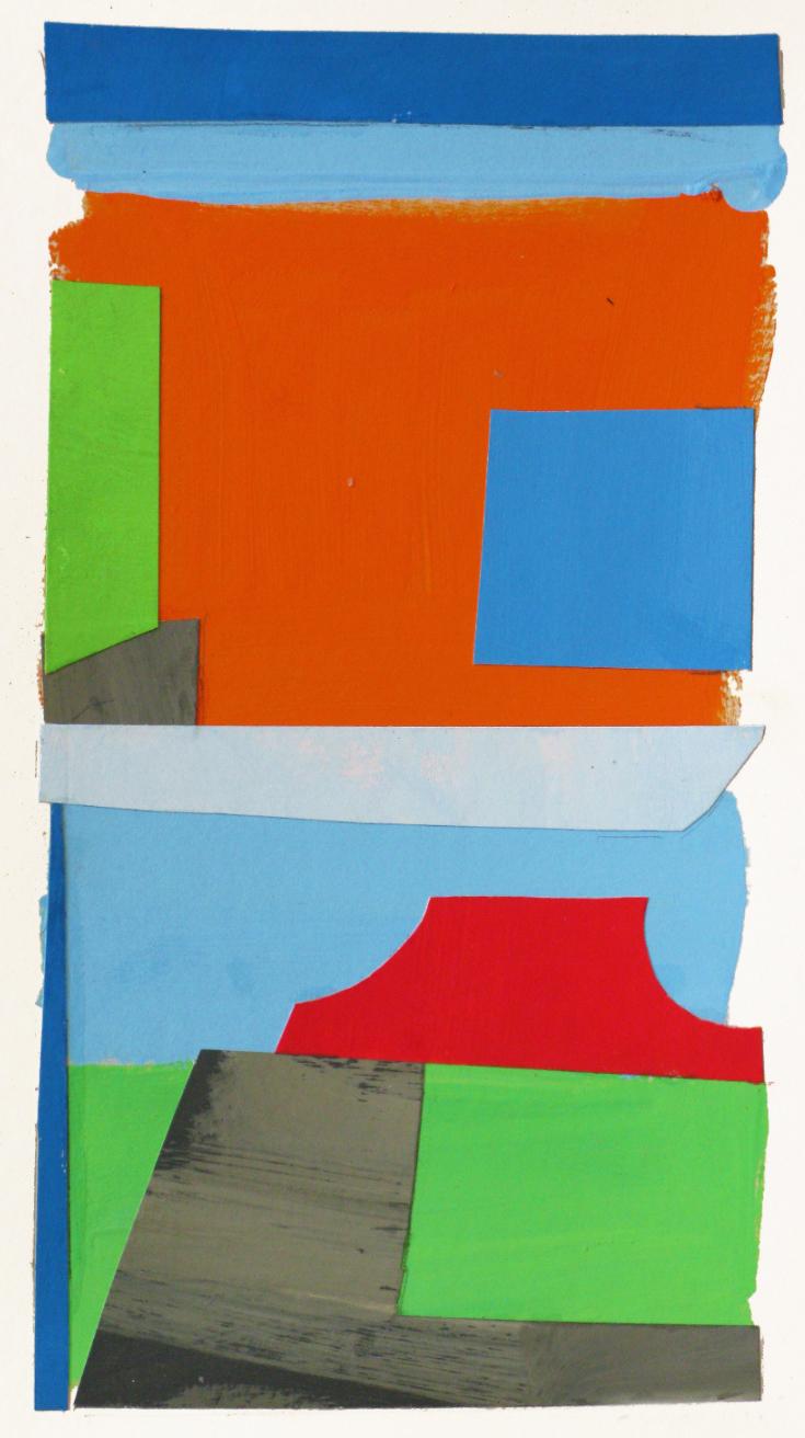 Two Skies ,gouache cut paper, 2014