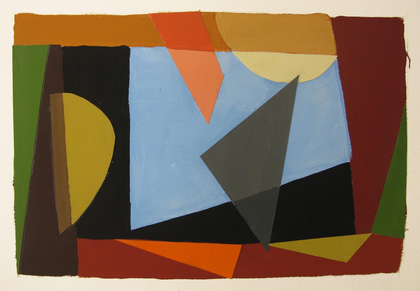 Window , gouache cut paper, 2013