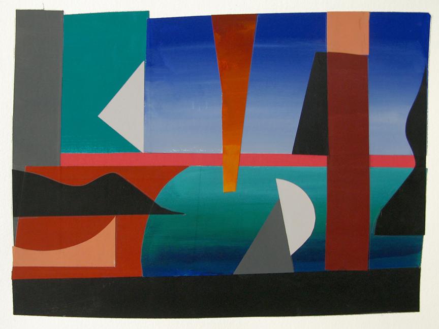 Dusk , gouache cut paper, 2012