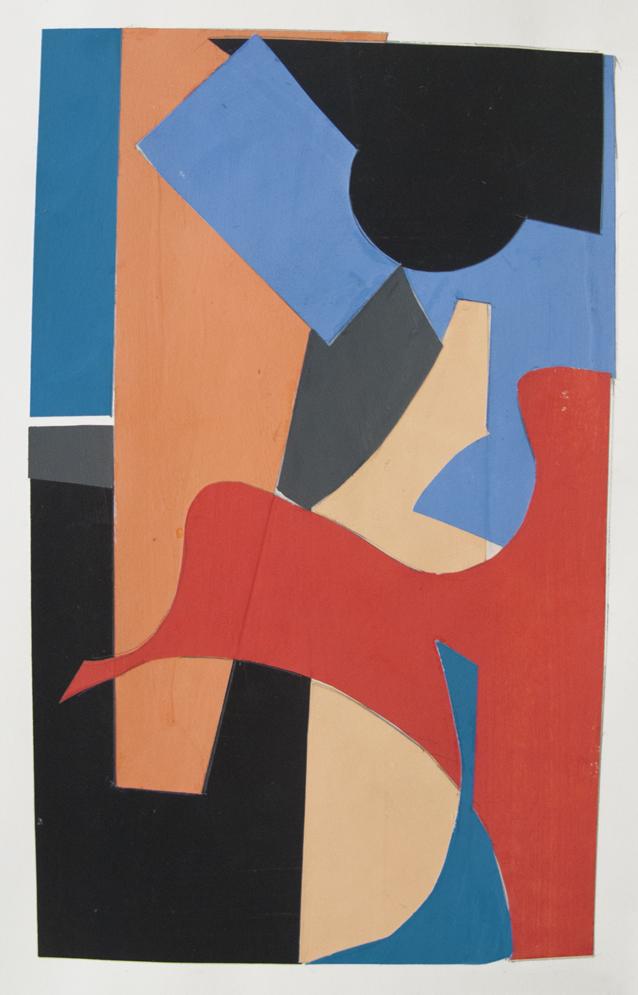 Four Corners , gouache cut paper, 2012