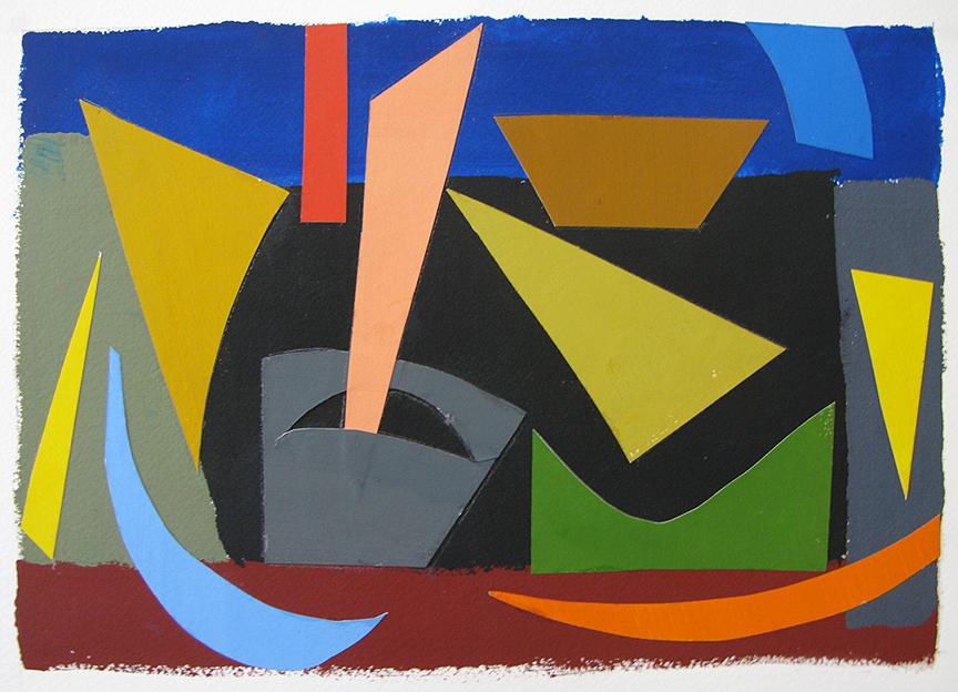 Untitled , gouache cut paper, 2013