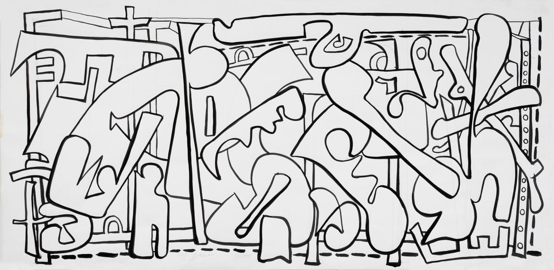 Inside Out I , ink, 2005