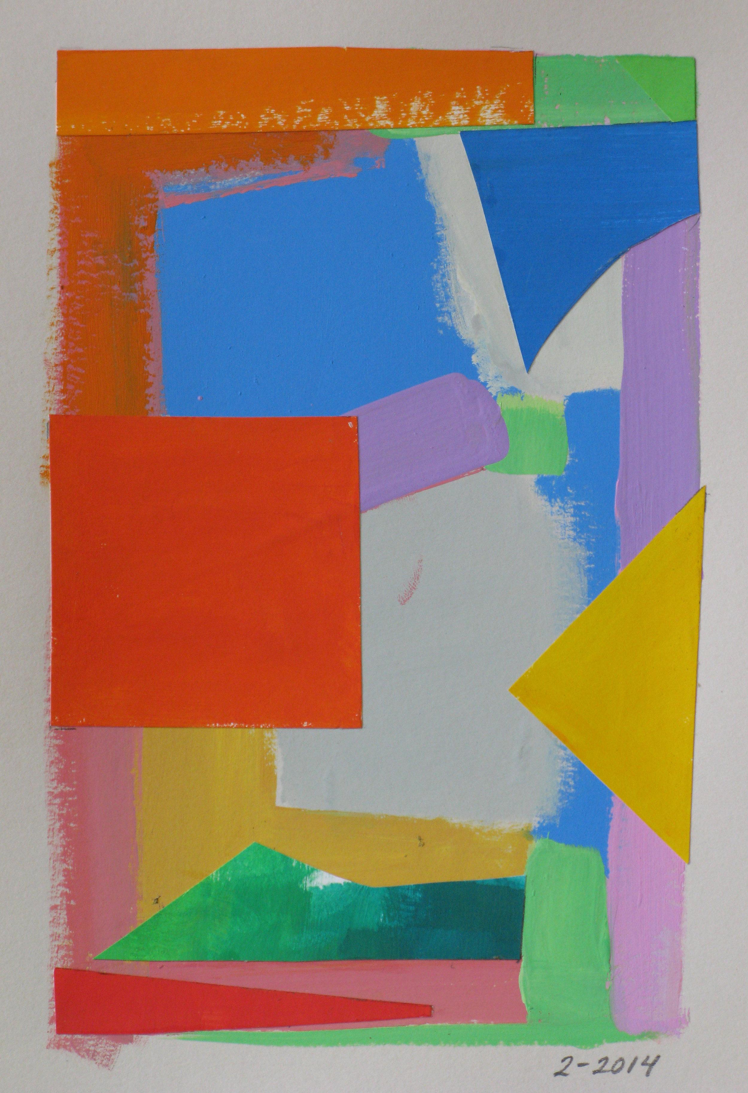 Summer IV,  cut paper, gouache, 2014