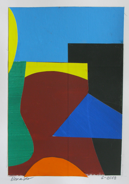 Cliff,  cut paper, gouache, 2013